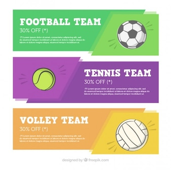Colección de banners de deportes