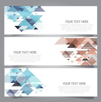 Colección de banners de diseño low poly