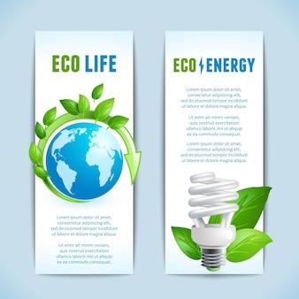 Colección de banners de ecología