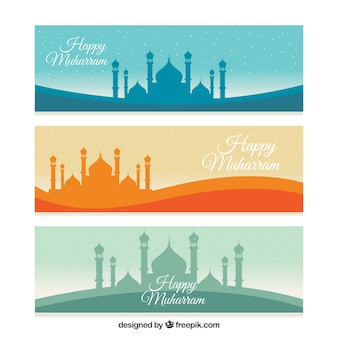 Colección de banners de muharram