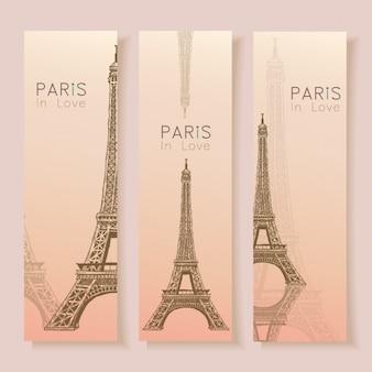 Colección de banners de parís
