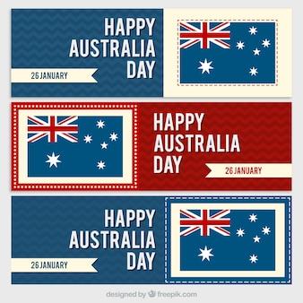 Colección de Banners del día de Australia