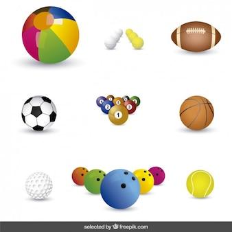 Colección de bolas de colores