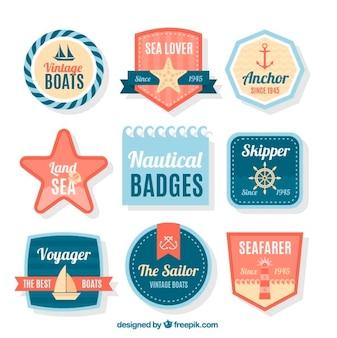 Colección de bonitas insignias de navegación