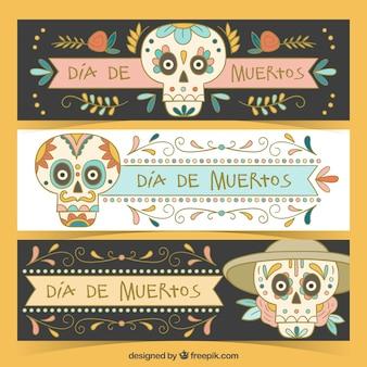 Colección de bonitos banners en colores pastel