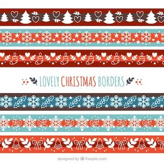 Colección de bordes bonitos de navidad
