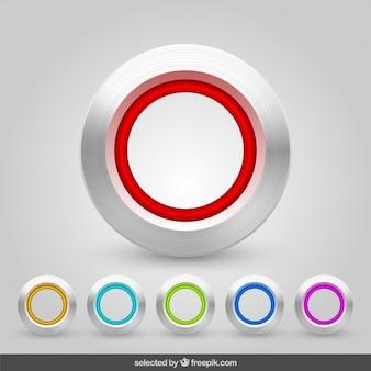 Colección de botones de aluminio