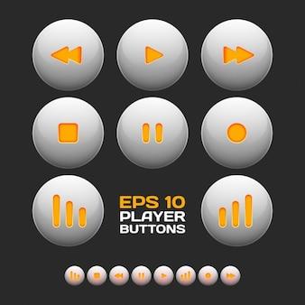 Colección de botones de reproducción