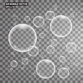 Colección de burbujas de aire