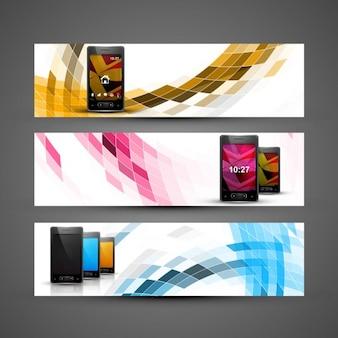 Colección de cabeceras con móviles