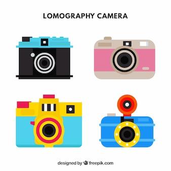 Colección de cámaras coloridas