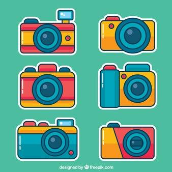 Colección de cámaras de juguete