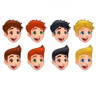 Colección de caras de chicos