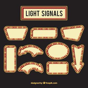 Colección de carteles de luces de neón