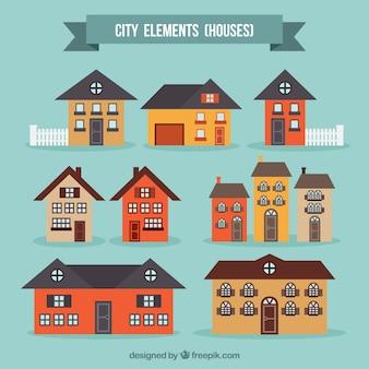 Colección de casas de ciudad