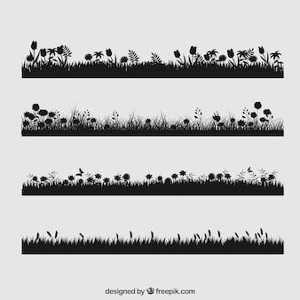 Colección de césped floral
