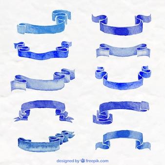 Colección de cinta azul
