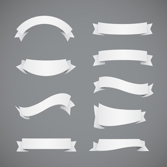 Colección de cintas blancas