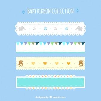 Colección de cintas de bebé con diferentes diseños