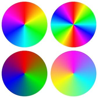 Colección de círculos arcoiris