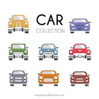 Colección de coches en varios colores