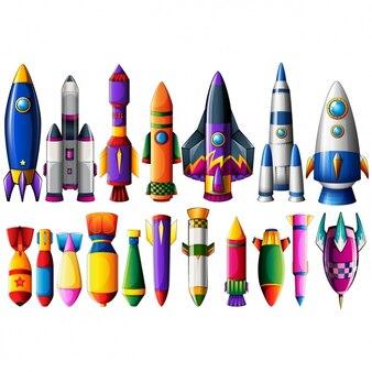 Colección de cohetes y misiles