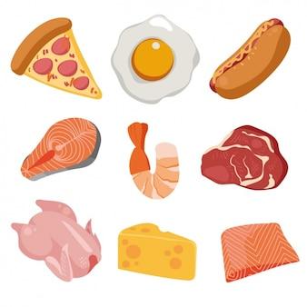 Colección de comida a color