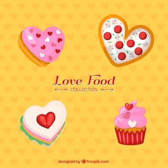 Colección de comida dulce