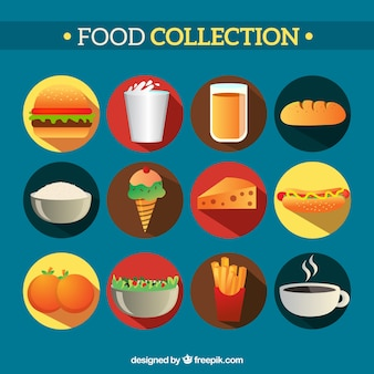 Colección de comida sabrosa