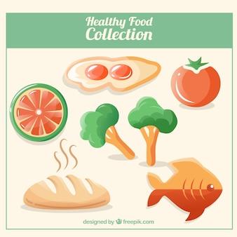 Colección de comida saludable