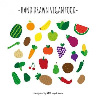 Colección de comida vegana