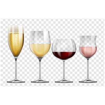 Colección de copas de vino