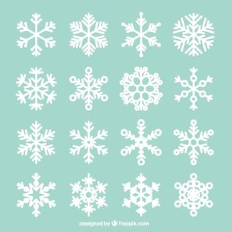 Colección de copos de nieve abstractos