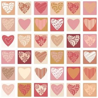 Colección de corazones a color