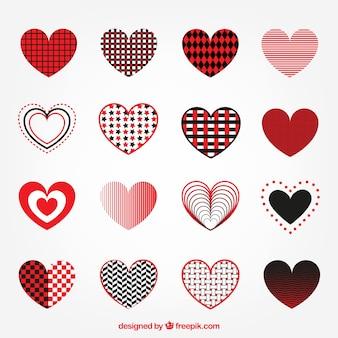 Colección de corazones abstractos