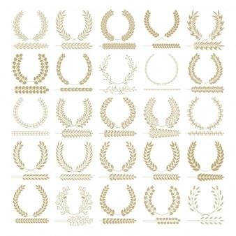 Colección de coronas de laurel