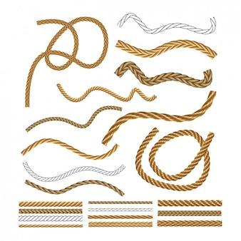 Colección de cuerdas náuticas