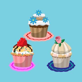 Colección de cupcakes deliciosos