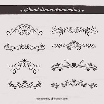 Colección de decoración elegante