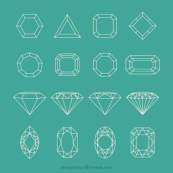 Colección de diamantes geométricos