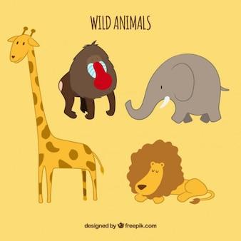 Colección de dibujos de animales salvajes