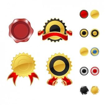 Colección de diferentes badges