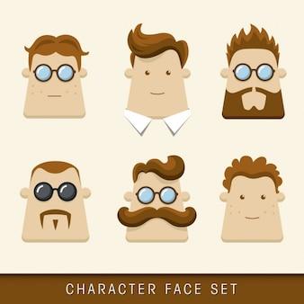 Colección de diferentes cabezas