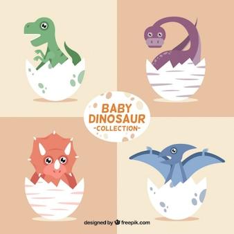 Colección de dinosaurios bebés