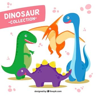 Colección de dinosaurios de dibujos