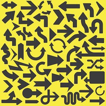 Colección de diseño de flechas