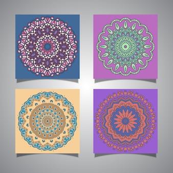 Colección de diseños coloridos de mandala