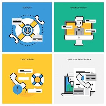 Colección de diseños de atención al cliente