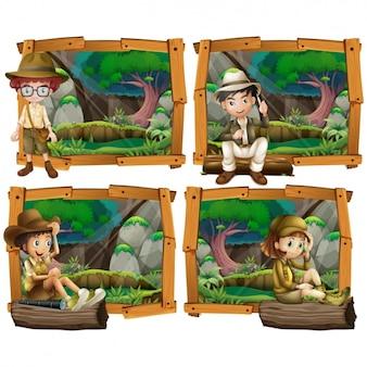 Colección de diseños de aventuras