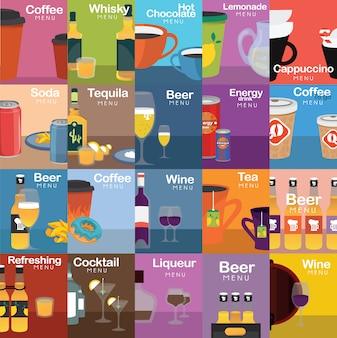 Colección de diseños de bebidas